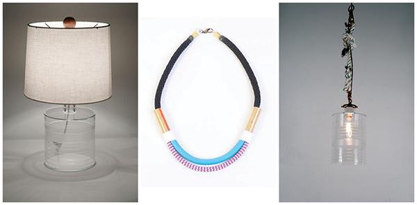 Mizuu Stout 1.0  / Sky + Lavender Zag Dual Necklace / Nautical